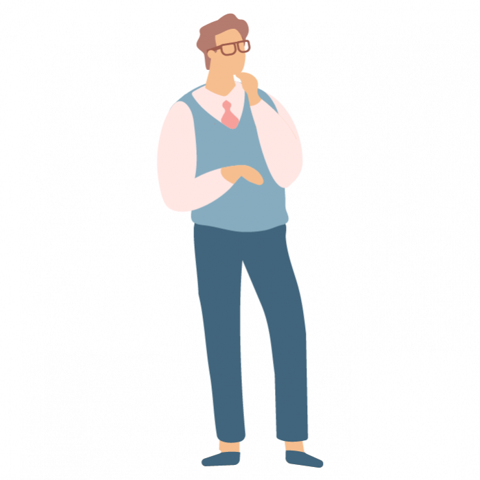 Illustration of man thinking